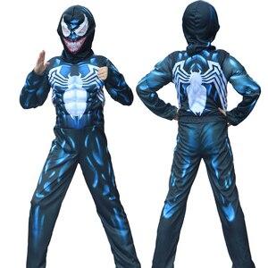 Halloween New Arrival Child Venom Spider Muscle Costume man Spider Boys Superhero Cosplay Fantasia Fancy Dress up(China)