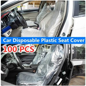 100pcs Universal Car Disposable Plastic Seat Covers Waterproof Moisture-Proof Dust-Proof Car Protective Cover(China)
