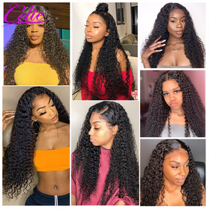 Image 2 - Celie Hair Curly Human Hair Wigs Kinky Curly Wig Pre Plucked With Baby Hair Lace Front Human Hair Wig 13x6 Curly Wig