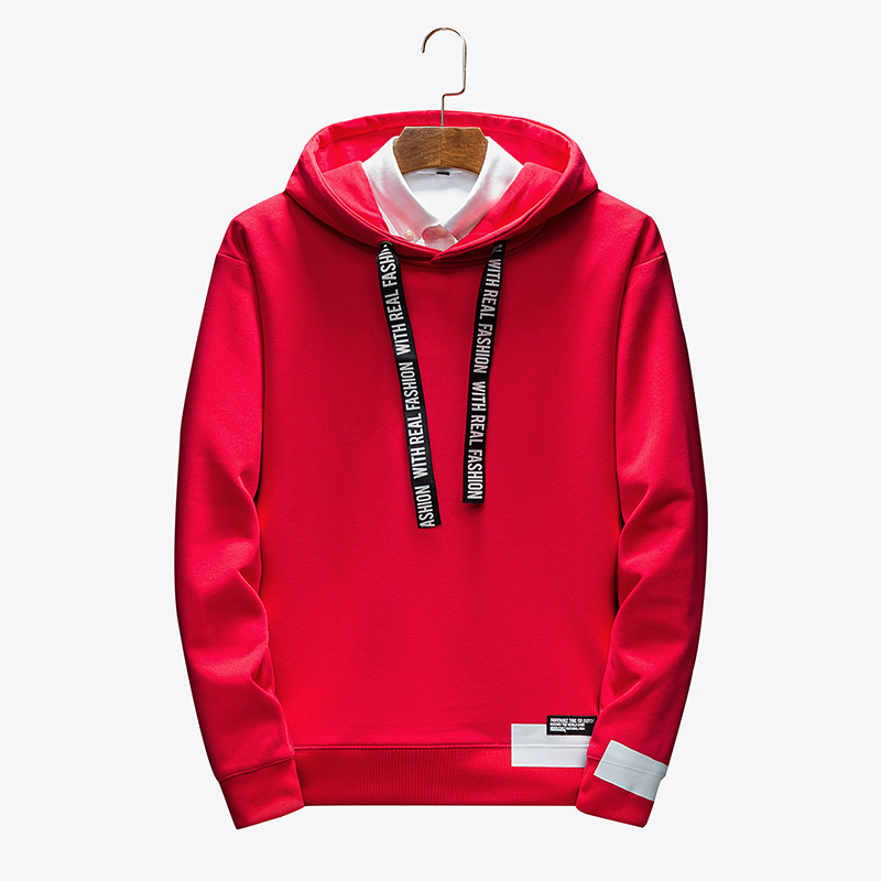 Men's Hoodies Male Casual Sweatshirts Men Solid Red Black White  Color Sweatshirt Tops Hot 2020 Spring Autumn Fashion Brand