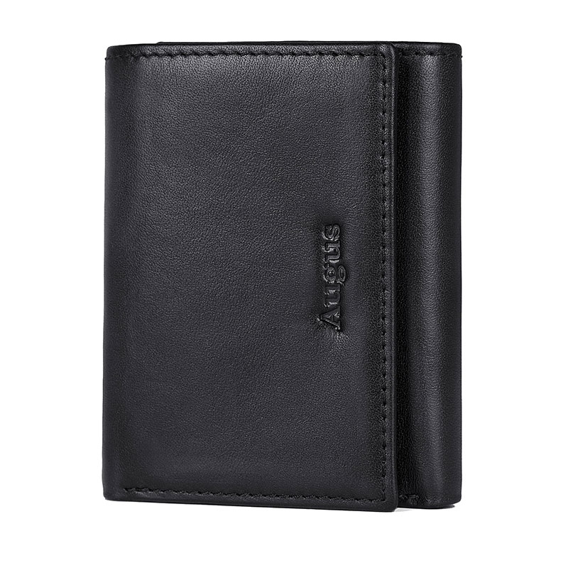 Augus Vintage Leather Men RFID Wallet License Holder High Quality 100% Guarantee Real Leather Wallets Credit Card Case