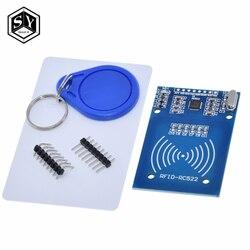 1PCS Great IT MFRC-522 RC522 RFID RF IC card inductive module with S50 Fudan card key chain wholesale