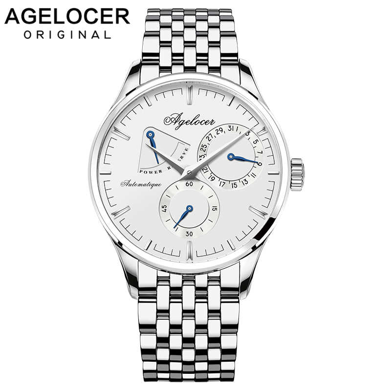 Agelocer Design Swiss Brand Luxury Men Watches Automatic Watch Men Stainless Steel Waterproof Business Mechanical Wristwatch