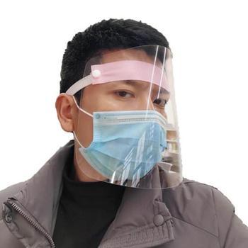 1 Pcs PVC Lightweight Transparent Face Shield Anti-splash Isolation Protective Mask Anti flu