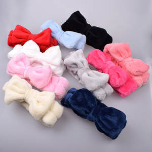 Hairbands Girl Headwear Makeup Elastic-Top Knot Wash-Face Coral-Fleece Women Soft