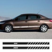 2 Stuks Auto Decor Decal Auto Deur Kant Stickers Voor Peugeot 307 206 308 407 207 3008 208 508 2008 301 408 107 3008 5008 Accessoires
