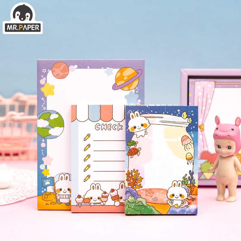 Mr. Kertas 250 Pcs/lot 4 Desain Yang Indah Manis Genit Hewan Setiap Hari Check Daftar Memo Bantalan Notepad Diary Menulis Note Memo bantalan