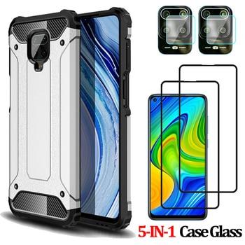 5-IN-1 Case for Redmi Note 9 Pro Xiaomi Note9 S Redmi9 9C 9Pro Silicone+Plastic Case Bumper Durable Cover Xiaomi 9S Redmi 9 Pro