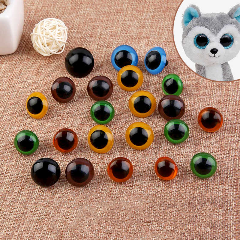 Black animal amigurumi plastic safety eyes with plastic washers ... | 800x800