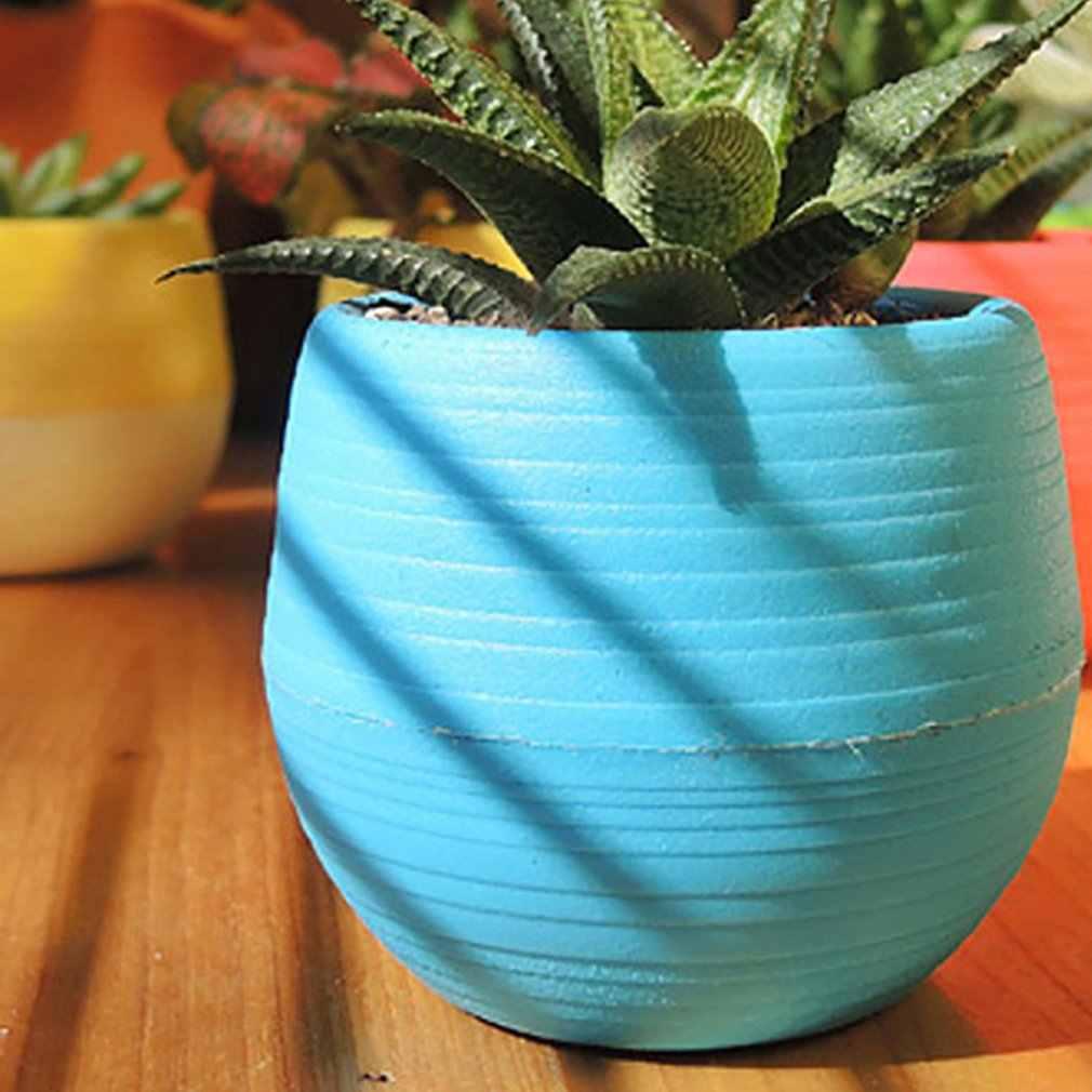 虹石ピルミニ植木鉢多肉植物植物創造小さな植木鉢プラスチック自動水吸収怠惰な植木鉢