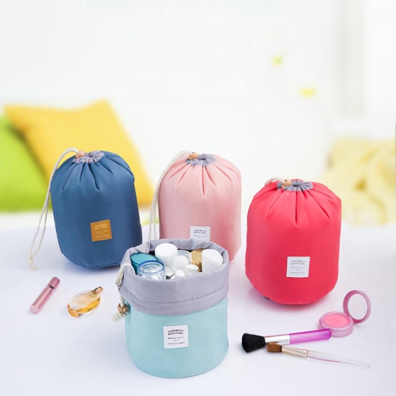 Многофункциональный водонепроницаемый баррель дорожная косметическая сумка, косметическая сумка нейлоновая сумка для мытья туалетных