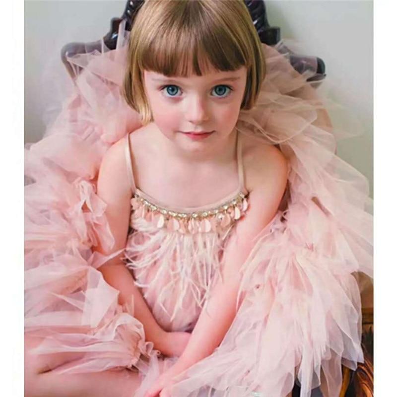 princess-dress-feather-rhinestone-sequin-beads-summer-girls-dress-children-party-wedding-clothing-elegant-kids-vestidos
