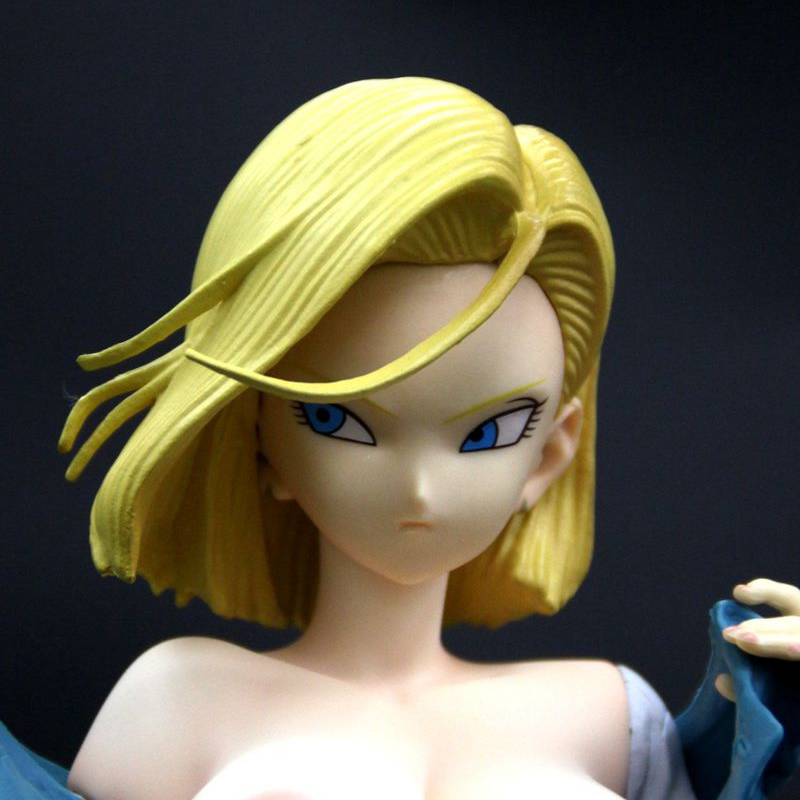 1/6 Scale Dragon Ball Z GLITTER GLAMOURS Android 18 Jacket Standing Naked Sexy Resin GK Model Figure Collection Anime Figures