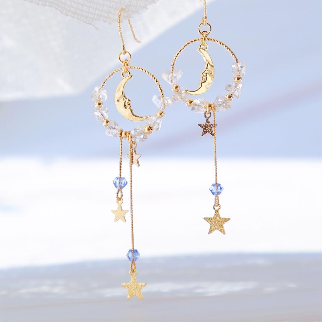 Xingyue fée fille coeur ins boucles d'oreilles oreille clips Sen super fée visage mince mignon bijoux