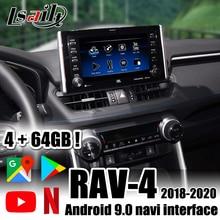 PX6 Lsailt Android 9.0 멀티미디어 비디오 인터페이스 (Toyota RAV 4 2018 20, 내비게이션, YouTube , Netflix Camry , Avalon 포함)