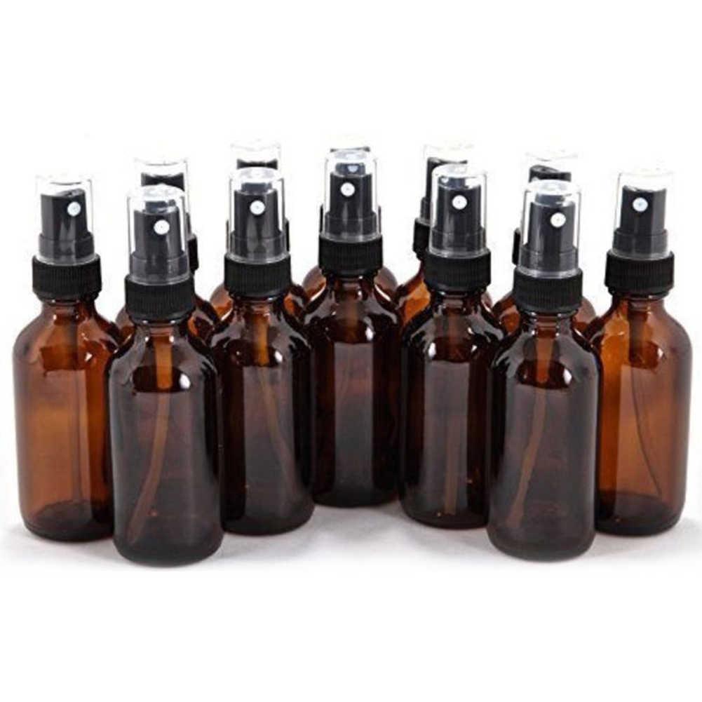 5 ML-100 ML güzellik boş pompa Amber cam şişe seyahat uçucu yağ sis sprey konteyner vaka doldurulabilir şişeler Atomizer