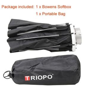 Image 5 - Triopo 65 Cm Draagbare Bowens Mount Octagon Umbrella Softbox + Draagtas Voor Foto Studio Flash Outdoor Fotografie Soft Box