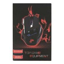 Boxed 7 Tasten Gamer Computer Mäuse Einstellbare USB Kabel LED Optische Gamer Maus 5500DPI Wired Gaming Maus für Laptop PC Mäuse