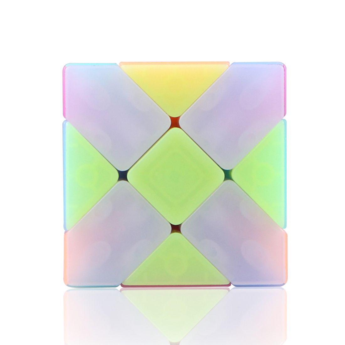 Qiyi Fisher Magic Cube Puzzle Puzzles Magic Cubes Early Educational Toy For Children New Cube  2019 - Jelly Color