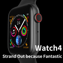 Relógio inteligente Apple Watch 4 IWO 8 9 10 Homens Relógio Inteligente Relógio Inteligente ECG PPG 44mm Caso Relógios Smartwatch Reloj Inteligente para A Apple IOS(China)