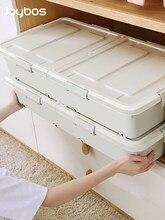 JOYBOS boîte de rangement dortoir domestique grande capacité de Type plat avec roues sous le lit étanche à l'humidité tri des vêtements JX40