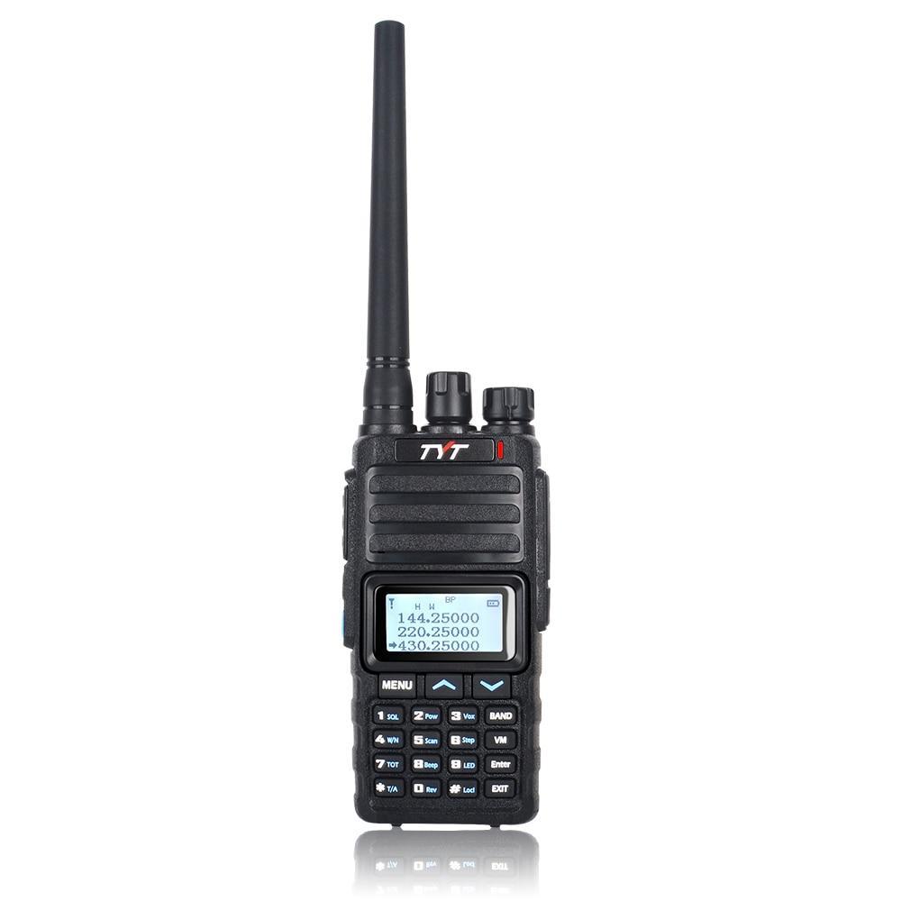 TYT WALKIE TALKIE UHF VHF TH-350 TRI BAND 136-174MHz 220-260MHz 400-470MHz Portable Two Way Radio Scramber Roger FM Transceiver