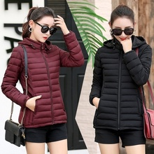 ZOGAA Women Winter Fashion Keep Warm Hooded S-5XL Quilty Puffer Jacket Fashion Tide Padded Jacket Coat Winter Puffer Jacket Coat
