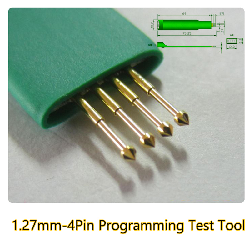 PCB Test Fixture Tool Test Probe Pogo Pin Pitch 4Pin 1.27mm Test Programming Download Fixture Hand JTAG  Held Tool