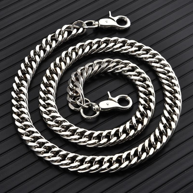 Punk Belt Chain Belt On Pants New Arrival 2019 For Women Men Cool Street Wear Metal Chains Belts