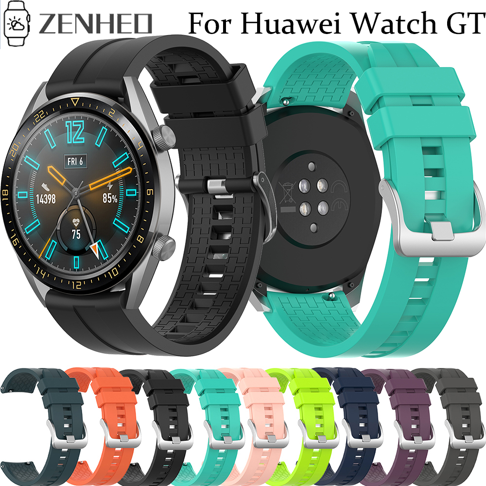 22mm Watchband For Huawei Watch GT Active Silicone Strap For Huawei Watch 2 Pro Sports Wrist Band For Huawei Honor Magic