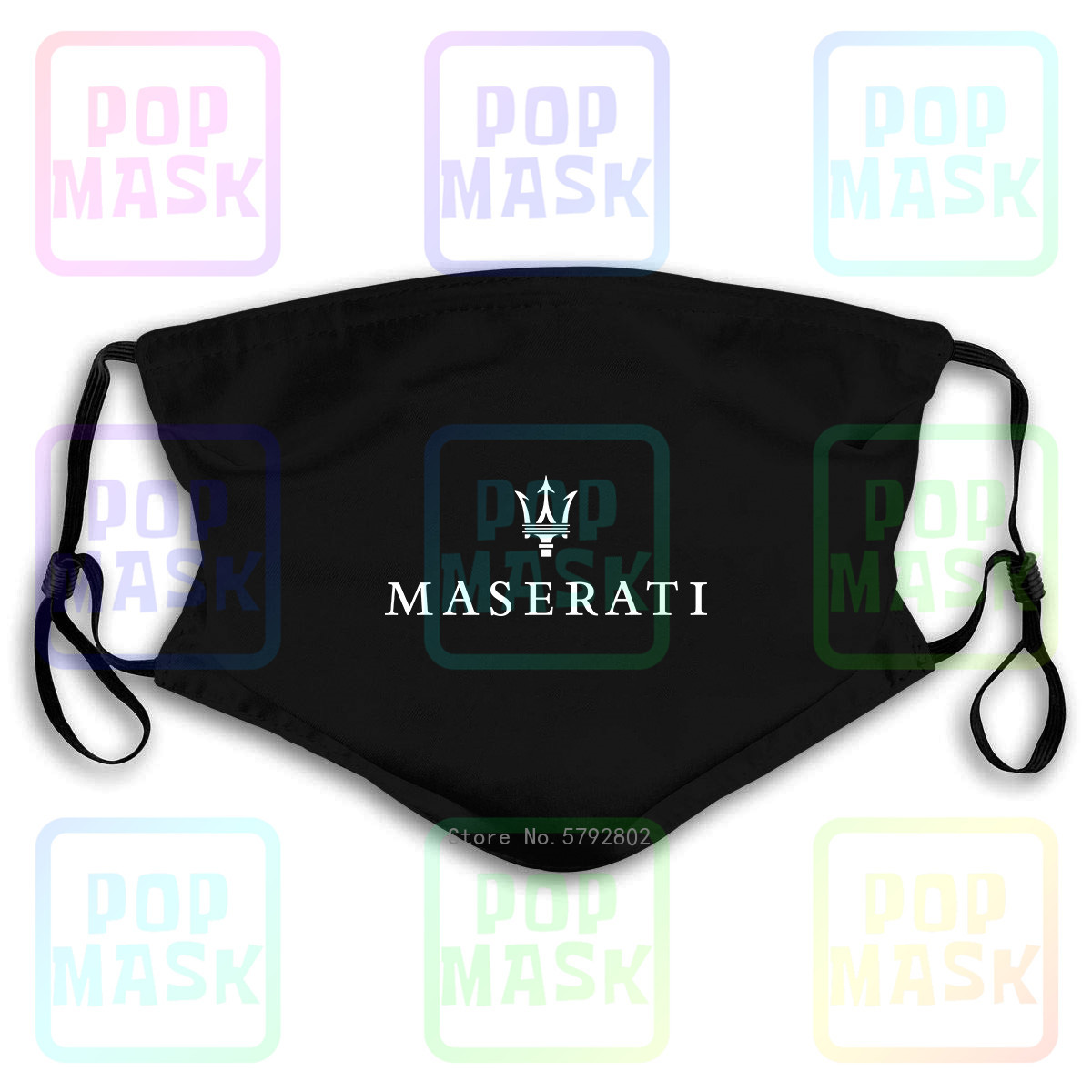 Dust Mask With Filter Maserati Lo Washable Reusable Mask
