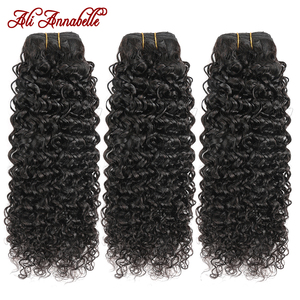 Peruvian Kinky Curly Human Hair Bundles Ali Annabelle 100% Human Hair 1/3/4 Bundles Deals 10 -28 Inch Curly Hair Extensions