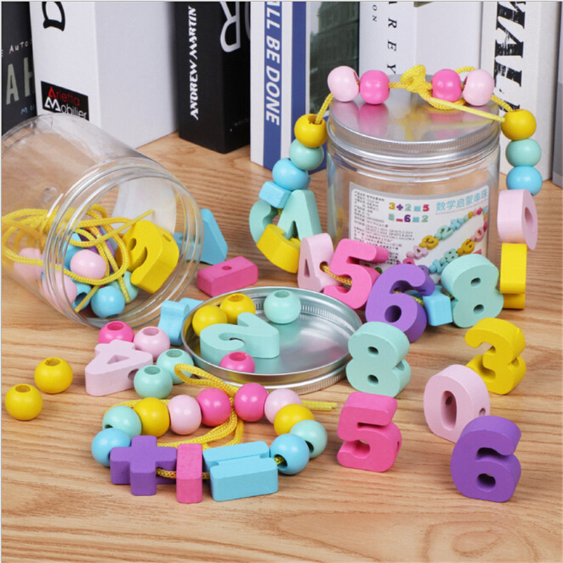 Colorful Montessori Learning Education Toys Wooden Digital Beaded Toys Educational Toy For Children Birthday Gift Free Shipping