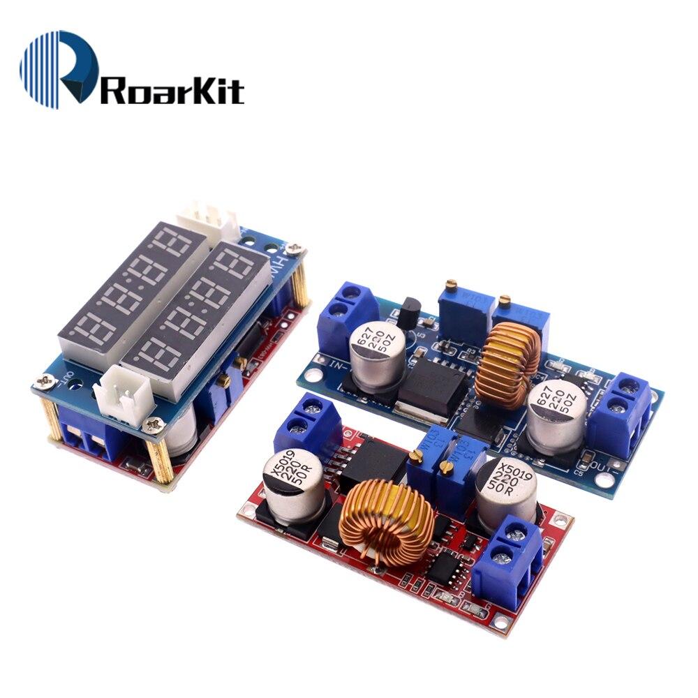 2 em 1 xl4015 DC-DC 5a corrente constante carregador de lítio bateria step down placa carregamento led conversor energia módulo lítio