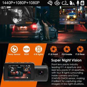 Image 4 - Vantrue 3 채널 N4 대시 캠 4K 카메라 방식 자동차 비디오 레코더 Dashcam 전면 및 후면 카메라 DVR 자동차 택시에 대 한 야간 비전