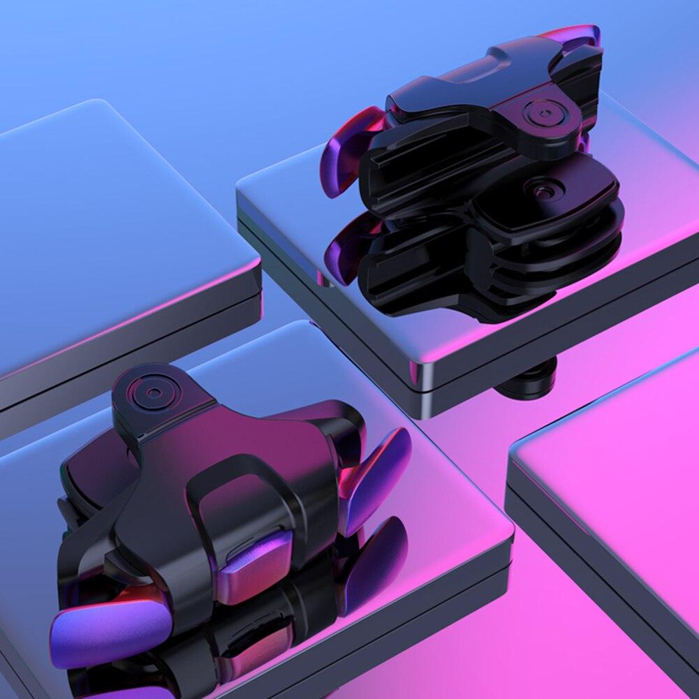 2 шт., металлический джойстик для геймпада PUBG, джойстик, пусковая кнопка Fire Aim L1 R1 Key L1R1, контроллер шутера для PUBG Phone, игровой коврик
