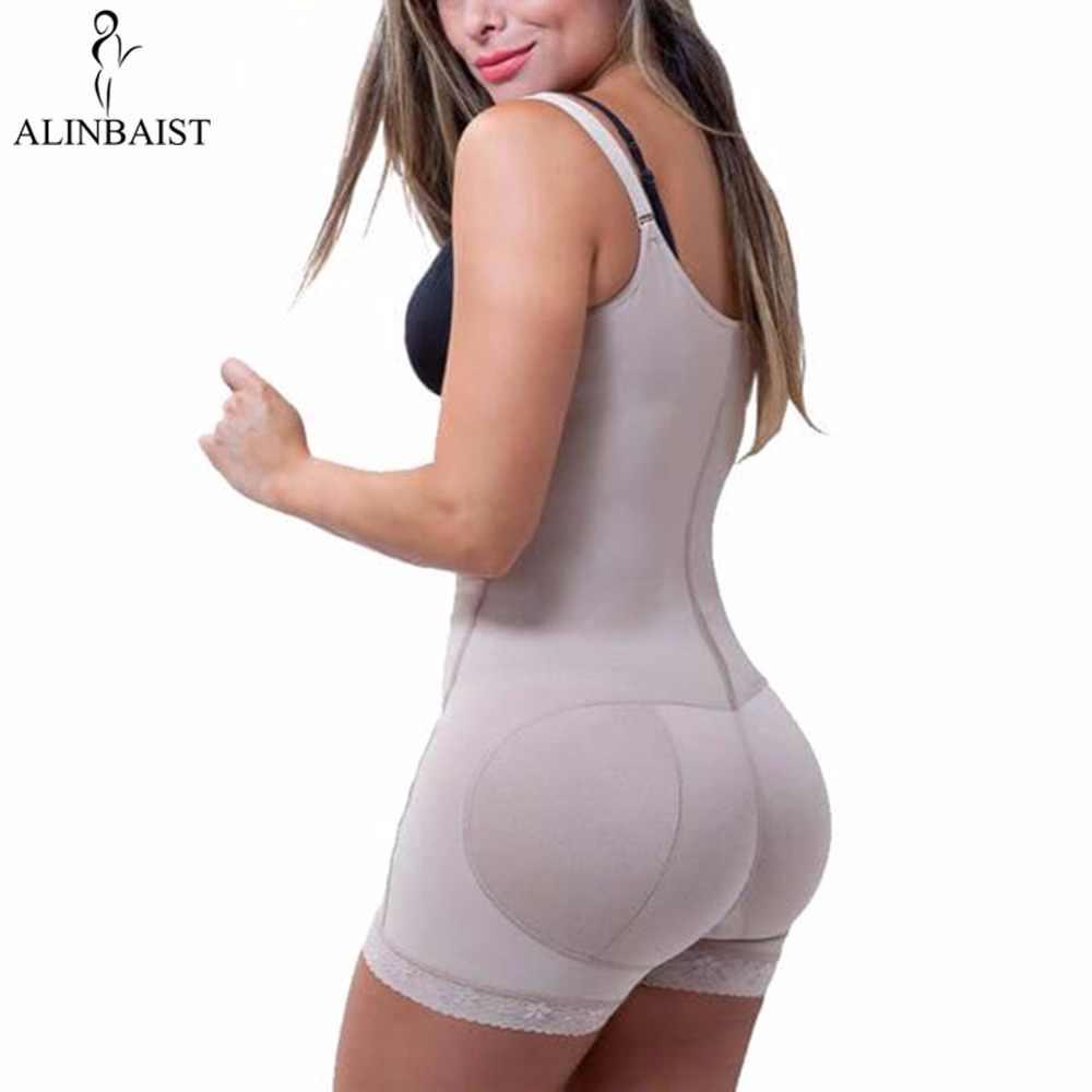 Women Best Shapewear Slip Butt Firm Tummy Control Zip Front Open Bust Latex Bodysuit Full Body Shaper Slimming Plus Size