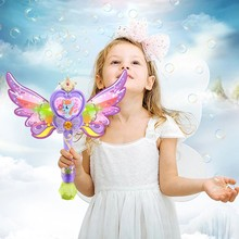 Kids Magic Wand Cute Pony Party Water Bubble Machine Gun Blower Toy Electric Magic Wedding Soap Bubble Pomperos Outdoor Toy