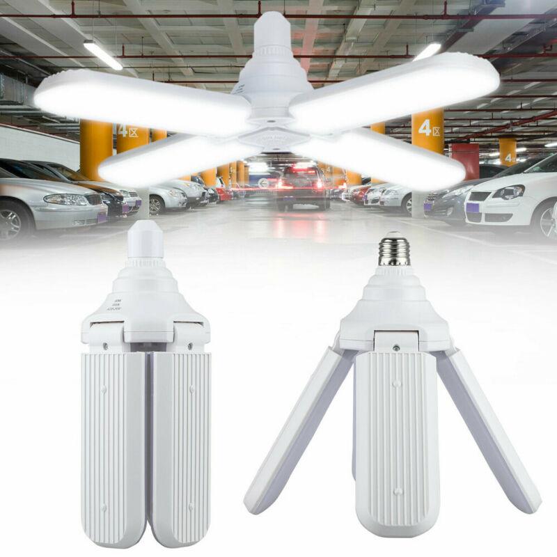 LED Garage Shop Work Lights Home Ceiling Fixture Deformable Lamp 60W E27