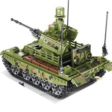 Military Panzer Tank Bricks WW2 Army Truck Soldier Figures War Chariot Model Building Blocks Sets Educational Kids Toys ww2 japanese army type 98 soldier uniform sets jacket