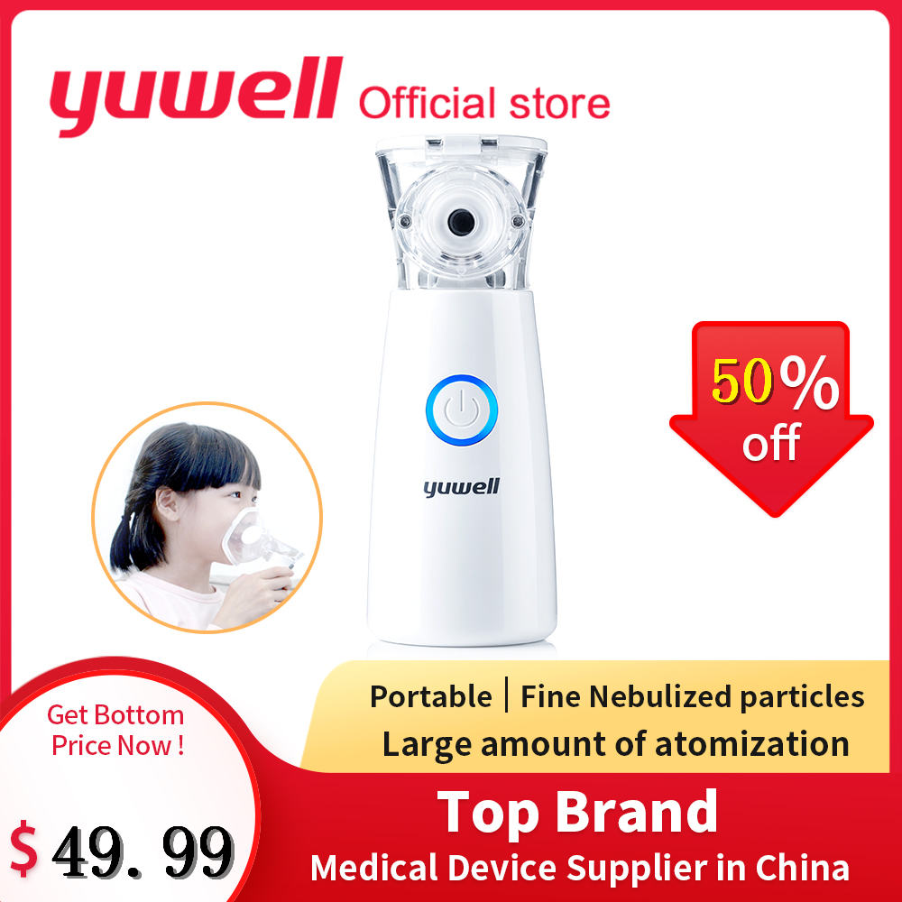 Yuwell m102 mini portátil vapor atomizado inalador de malha nebulizador asma do agregado familiar nebulizador monitor saúde