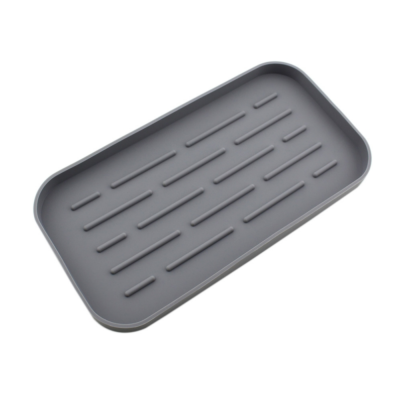 Kitchen Sink Sponge Soap Storage Organizer Cloth Silicone Drain Holder Tray New