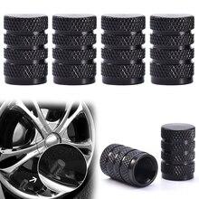 4 Uds. Tapas de válvula de aire de vástago de rueda de neumático de aluminio duraderas negras para reemplazo de piezas de coche camión TXTB1