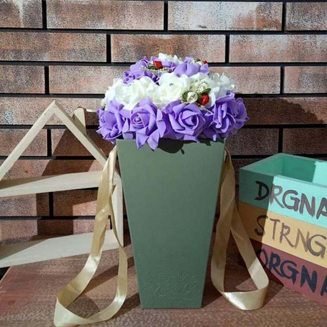 Flower Box Handbag Plastic Flower Box Rectangular Hand Carry Flower Arrangement Bag On Aliexpress