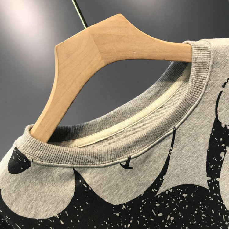 19 Autumn And Winter New Korean Round Neck Women's Fashion Cartoon Wild Student Shirt Loose Large Size Women's Clothing