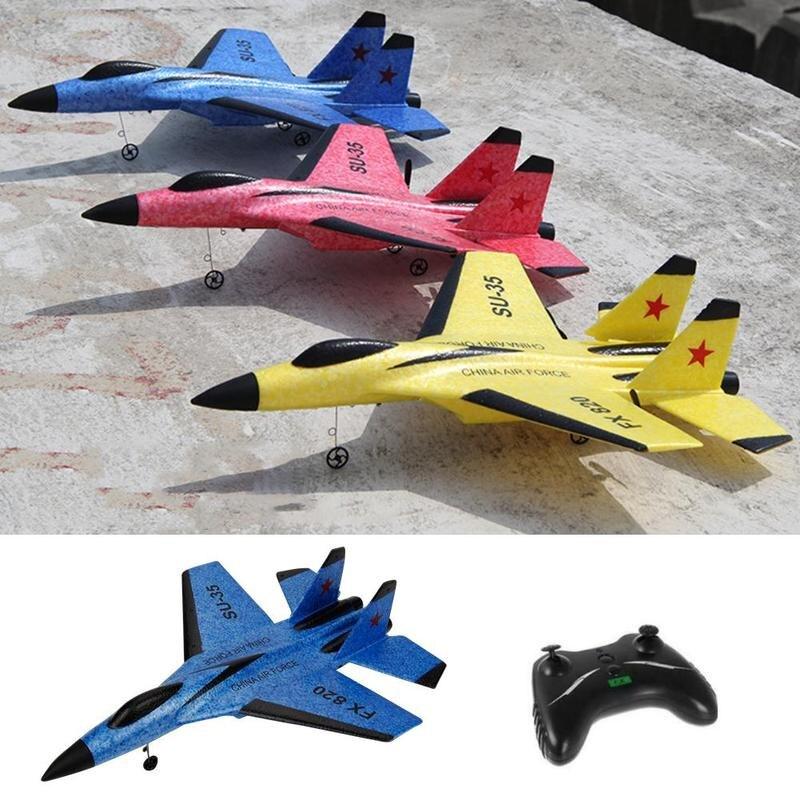 RC Plane Toy FX-820 2.4G 2CH SU-35 Outdoor RTF Radio Remote Control Airplane Toy Glider Airplane Model For Children Gifts