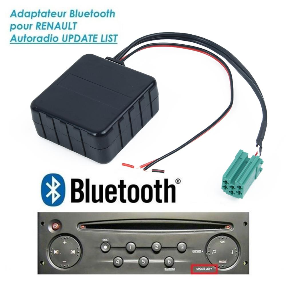 1pcs Auto 12V AUX Bluetooth Audio Module Cable Wire Adapter Replace For Renault 2005-2011