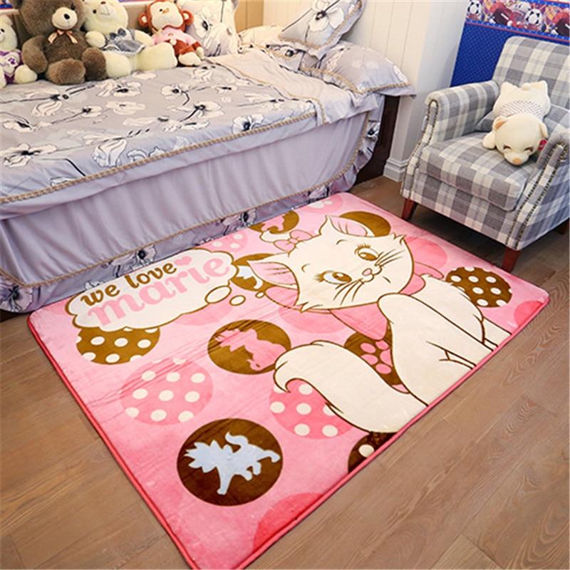 Disney Marie Cat Baby Play Mat 130x185cm  Living Room Carpet Bedroom Rug  Baby Game Mat Non-slip Baby Activity Center