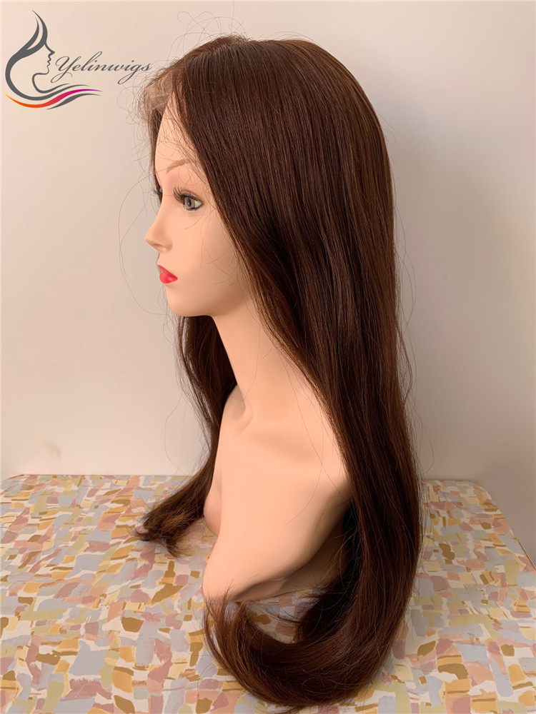 High Density 100% European Virgin Hair Lace Top Jewish Wig Kosher Wig Lace Top Wigs With Baby Hair