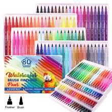 Набор маркеров и кистей 80 цветов акварельные маркеры для взрослых